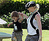 Photo of Gwen Stefani and Her Son Kingston at Roger Federer's Tennis Match