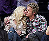 Photo of Heidi Montag and Spencer Pratt Kissing at a Lakers Game