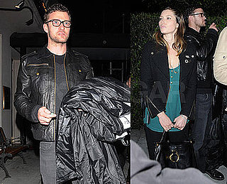 Photos of Justin Timberlake and Jessica Biel Having Dinner at Mastro's in LA