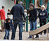 Photo of Heidi Klum and Seal with Kids Leni, Johan and Henry at the Park in LA