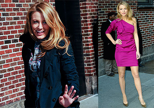 Photos and Video of Blake Lively on The Late Show