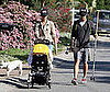 Photo of Matthew McConaughey and Camila Alves Walking with son Levi in Malibu