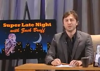 Video of Zach Braff Hosting Super Late Night