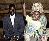 Photo of Madonna, David Banda and His Father Yohane Banda in Malawi