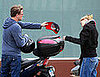 Photo of Leonardo DiCaprio and Bar Rafaeli on a Motorcycle in LA