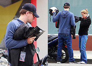 Photos of Leonardo DiCaprio and Bar Refaeli, Wearing a Ring, Riding a Motorcycle in LA