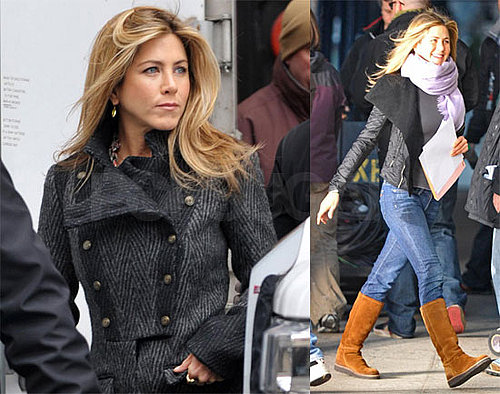 Photos of Jennifer Aniston on Set of The Baster in NYC 2009-03-30 11:00:40