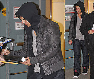 Photos of Taylor Lautner Arriving at the Airport in Vancouver