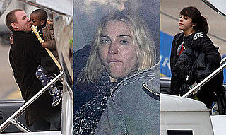 Photos of Madonna, Guy Ritchie, David Banda, Lourdes Leon at Heathrow, Guy Praises Madonna as a Mother