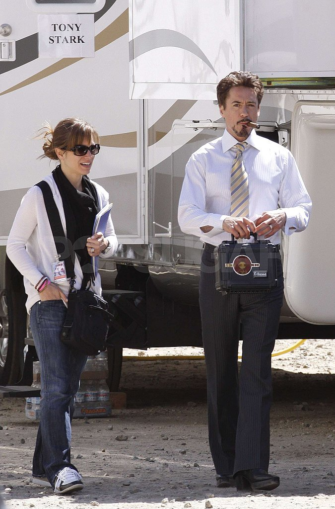 Robert Downey Jr. On Set of Iron Man 2