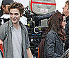 Photo of Robert Pattinson and Kristen Stewart Filing New Moon