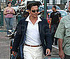 Photo of Johnny Depp on the set of The Rum Diary in Puerto Rico 2009-04-16 10:00:00