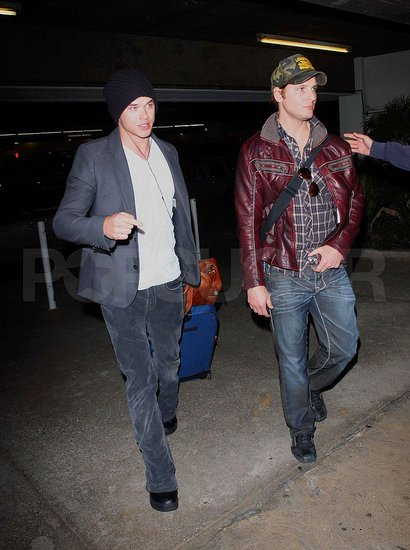 Kellan and Peter at LAX
