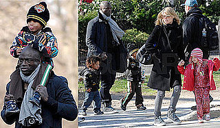 Photos of Heidi Klum, Leni Klum, Johan Samuel, Henry Samuel, Seal in NYC on Easter