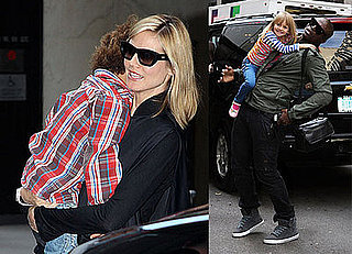 Photos of Pregnant Heidi Klum in NYC With Seal, Leni Samuel, and Henry Samuel