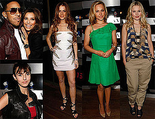 Photos of Lindsay Lohan, Ali Lohan, Dina Lohan, Eva Longoria, Ludacris, Kristen Bell at AX Watch Party