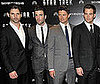 Photo of Eric Bana, Zachary Quinto, Karl Urban, and Chris Pine at the London Star Trek Premiere