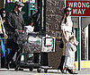 Photo of Brad Pitt, Angelina Jolie, Shiloh Joli-Pitt, and Zahara Jolie-Pitt at Stop & Shop in NYC