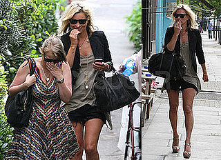 Photos of Kate Moss and Her Assistant Fiona Out and About in London