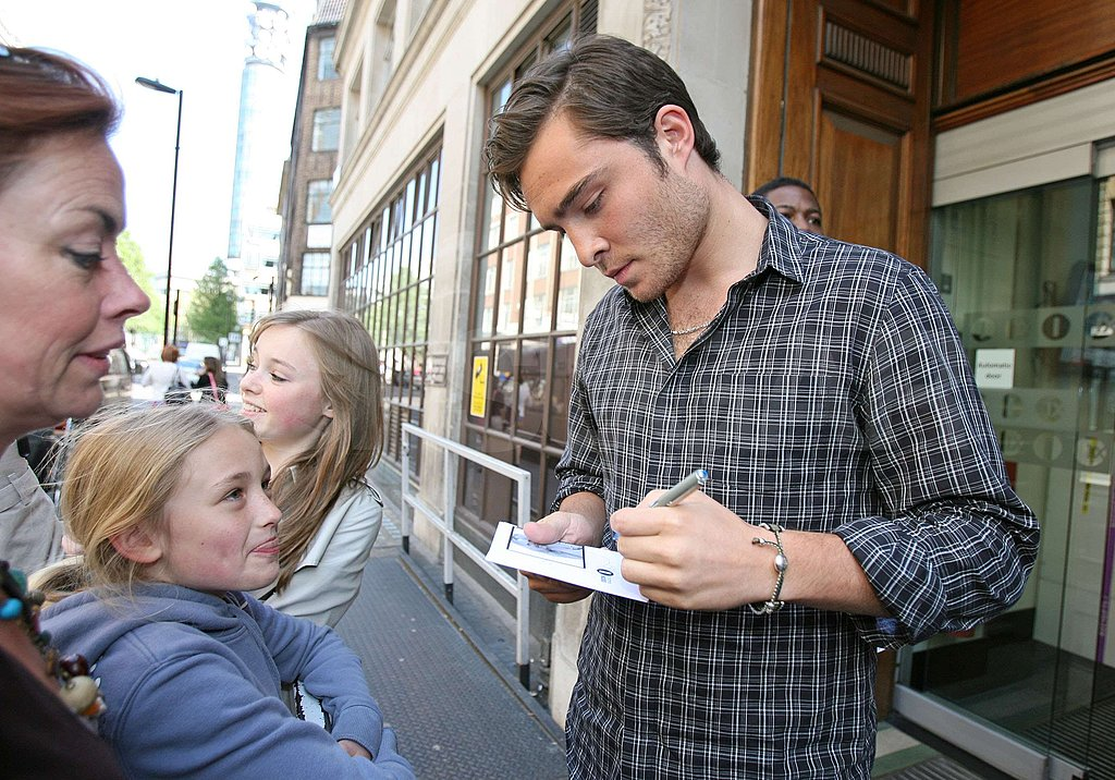 Ed Westwick in London