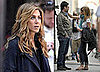 Photo of Jennifer Aniston and Jason Bateman on the NYC set of The Baster