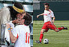 Photos of Ed Westwick and Jessica Szohr Playing Soccer, Kissing in LA