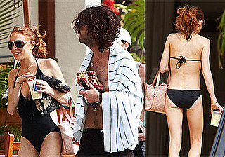 Photos of Lindsay Lohan in Bathing Suit in Maui