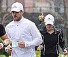 Photo of Justin Timberlake and Jessica Biel Running in NYC