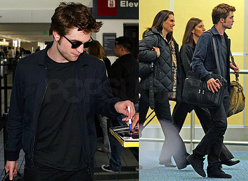 Robert Pattinson Flies His Sexy to LA For the Weekend