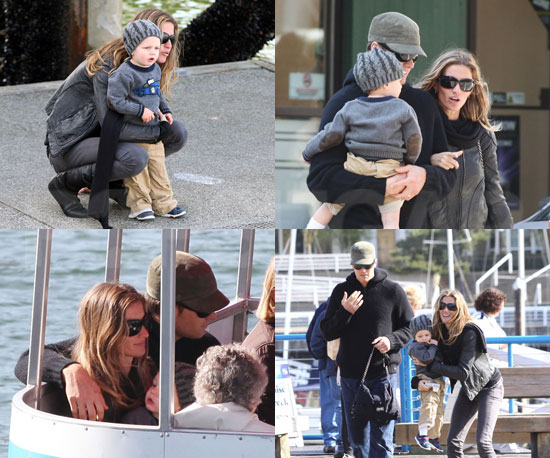 Gisele and Tom Bring Jack Around Vancouver!