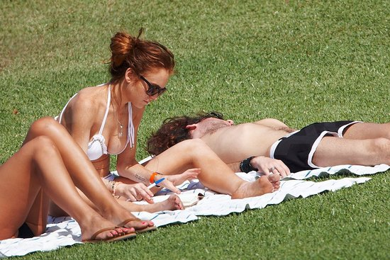 Lohan Bikini Photos in Hawaii