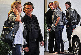 Photos of Charlize Theron, Stuart Townsend, and Sean Penn at LA's Versailles Cuban Restaurant