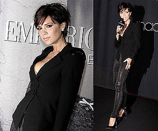 Photos of Victoria Beckham Unveiling Her Armani Underwear Ad at Macy's in New York City
