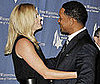 Photo of Charlize Theron and Will Smith at Simon Wiesenthal Center's Annual National Tribute Dinner