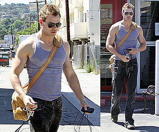Photos of Kellan Lutz Showing Off his Muscles in LA