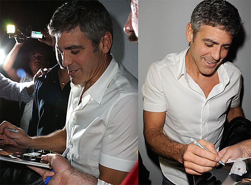 Photos of George Clooney Signing Autographs in South Beach, Florida