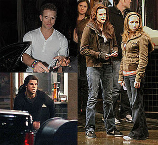 Photos of Twilight's Kristen Stewart, Kellan Lutz, Taylor Lautner Filming New Moon in Vancovuer