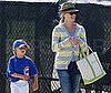 Slide Photo of Reese Witherspoon Taking Deacon To a Baseball Game
