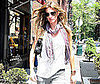 Photo Sldie of Gisele Bundchen Walking in NYC