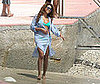 Photo Slide of Beyonce Knowles at the Beach in Monaco