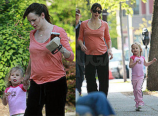 Photos of Jennifer Garner and Violet Affleck in Boston