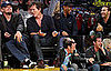 Photos of Leonardo DiCaprio, Kevin Bacon, Jeremy Piven, Denzel Washington, Adam Sandler at Lakers Game