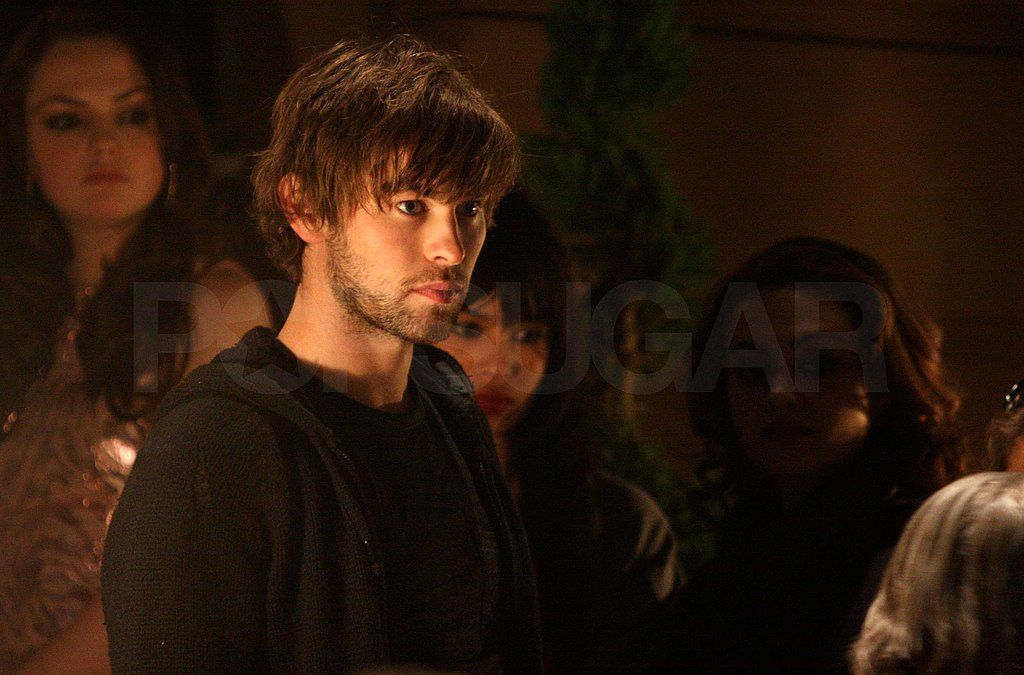 Chace and Zoe on Set
