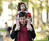 Photo Slide of Jason Bateman and His Daughter Francesca At a Park in NYC