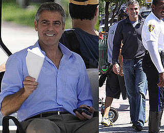Photos of George Clooney on the Set of Up in the Air in LA