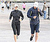 Photo Slide of Jessica Biel and Justin Timberlake Running in NYC