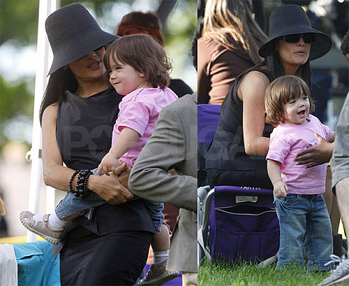 Photos of Salma Hayek and Valentina Pinault on the Set of Grown Ups in Massachusetts