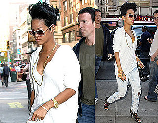 Photos of Rihanna in NYC, Drake Denies They Are Dating