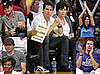 Photos of Tom Cruise, Connor Cruise, Leonardo DiCaprio, Jake Gyllenhaal at Lakers Game