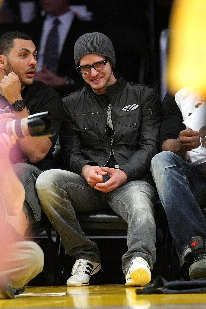 JT, Leo, John at Lakers Game